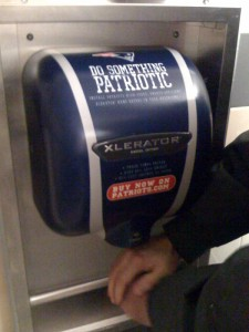 Hand-Drier with the Patriots colours for sale.