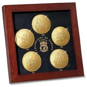 The LIVERPOOL FC Champions Of Europe Medallions
