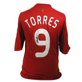 Torres Signed Liverpool Home Shirt