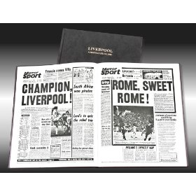 LIVERPOOL Football Club Newspaper Archive Book - Luxury Leather Edition