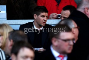 Steven Gerrard doesn't enjoy sitting in the stands when the lads are playing