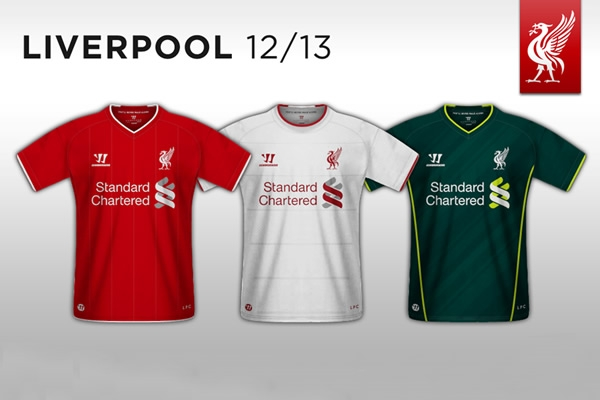Liverpool F.C. 2012-13 Shirts Warrior