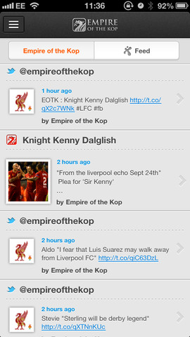 Empire of the Kop iPhone App