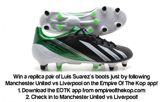 Luis Suarez boots competition EOTK