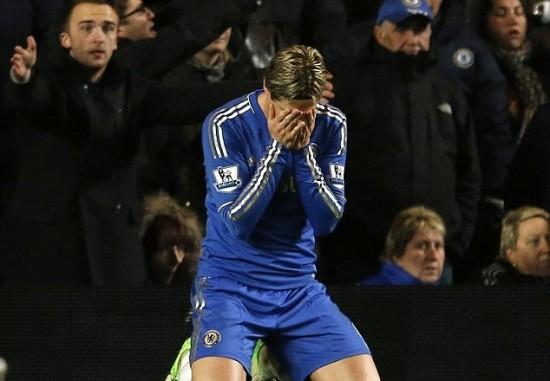 Torres in blue