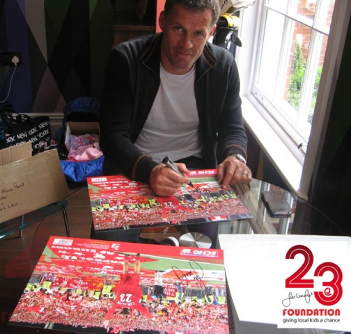Carra signing posters