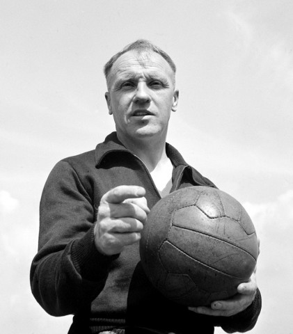 Bill Shankly with football