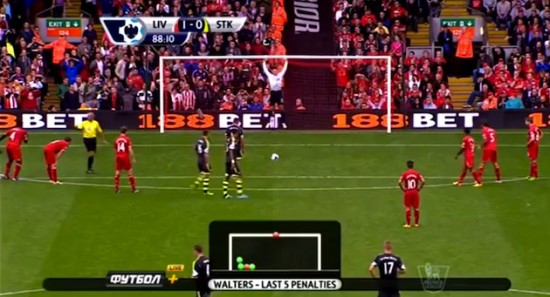 Simon Mignolet's penalty save