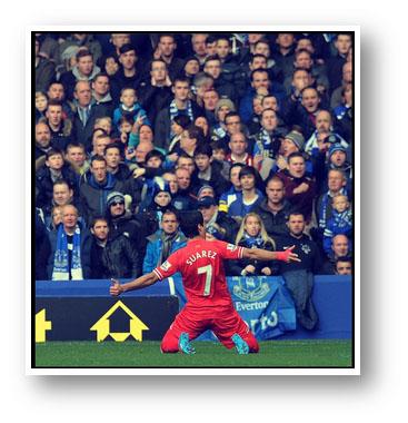 Luis Suarez's stunning free kick