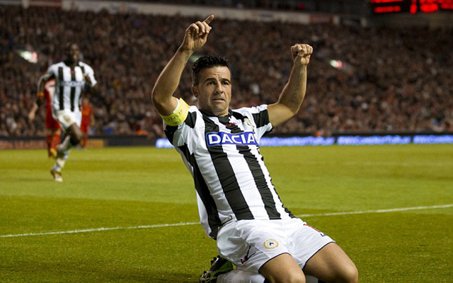 Udinese icon Antonio Di Natale claims he almost went to Liverpool in 2008