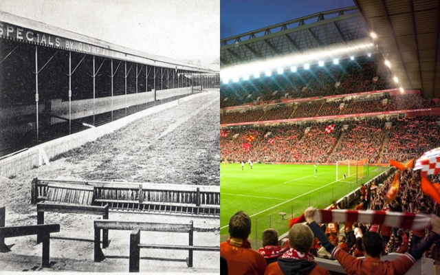 (Images) Liverpool at Anfield: How the famous stadium has changed in 114 years