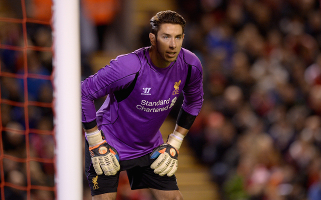 Former goalkeeper training with Liverpool
