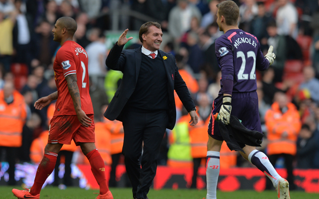 Brendan Rodgers lauds 'wonderful' Simon Mignolet after strong Liverpool form