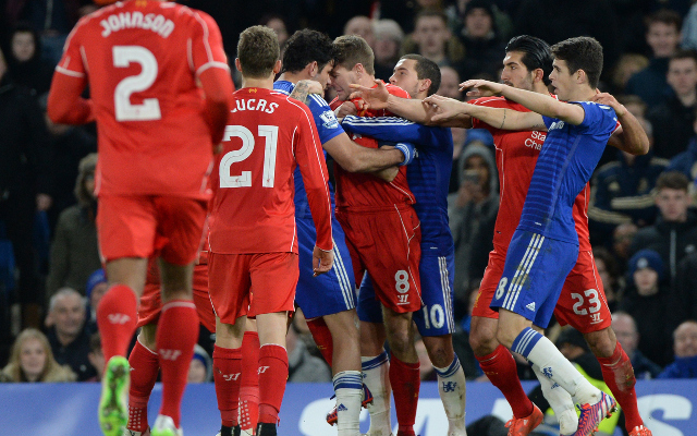 (Video) Diego Costa's two stamps last night for Chelsea v Liverpool