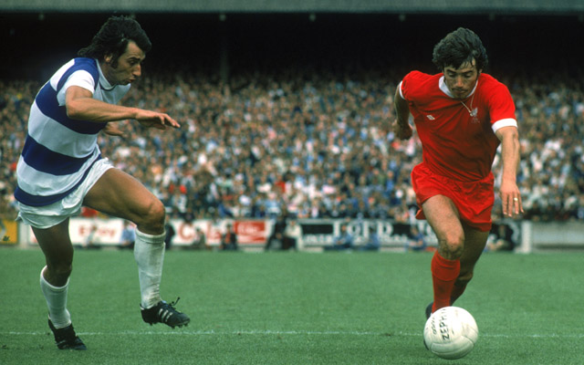 Kevin Keegan of Liverpool and Dave Clement of Queens Park Rangers