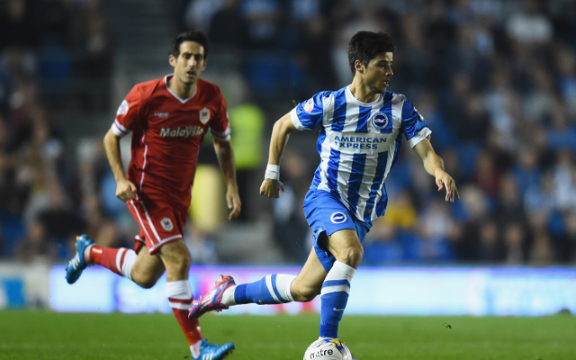 Liverpool youngster Joao Carlos Teixeira breaks his leg playing for Brighton