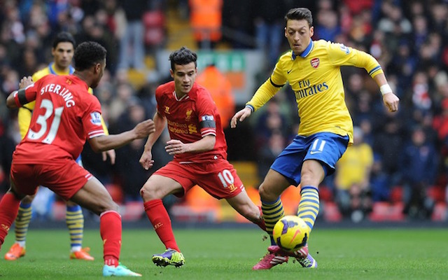 Liverpool fans mock Arsenal's Mesut Ozil & compare him with Coutinho after Monaco debacle!