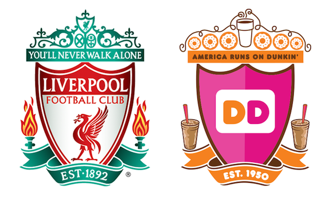 Dunkin' Donuts apologise after replacing Hillsborough flames with Milkshakes in mock-up Liverpool crest