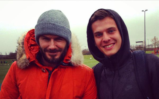 (Images) David Beckham spotted at Liverpool training ground