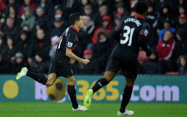 (Video) Coutinho hits stunning 30-yard strike to put Liverpool 1-0 up v Southampton