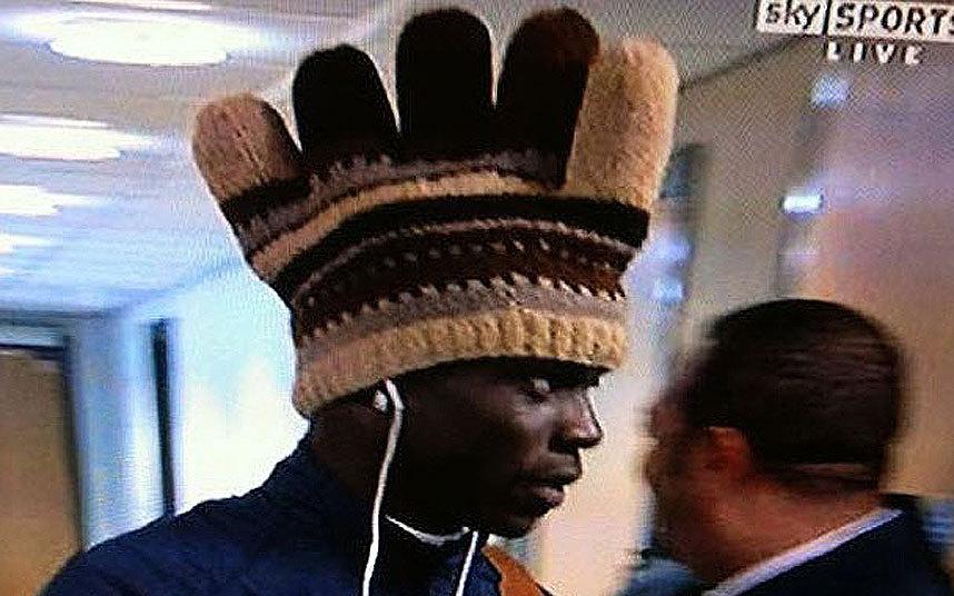 10) Mario Balotelli Chicken Hat
