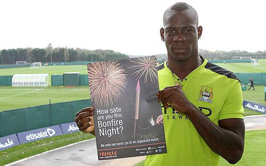 6) Mario Balotelli fireworks