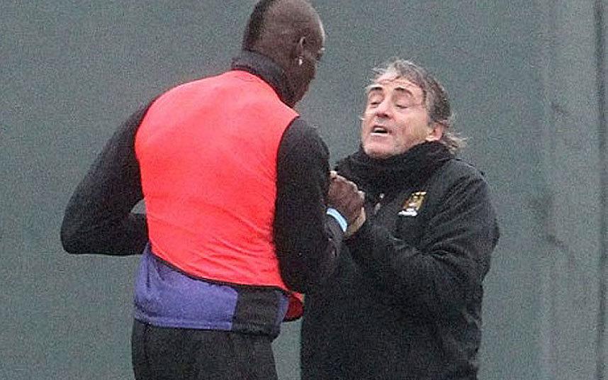 7) Mario Balotelli & Roberto Mancini