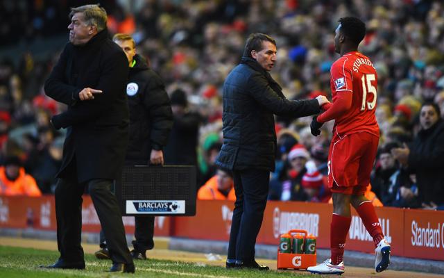 Brendan Rodgers admits he'll need to 'manage' Daniel Sturridge's game time