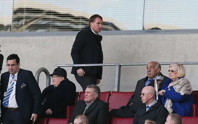 Brendan Rodgers attends Championship game to keep tabs on Liverpool loan star