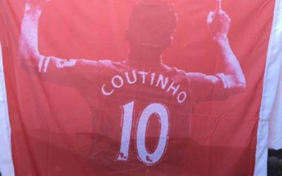 Coutinho banner Liverpool
