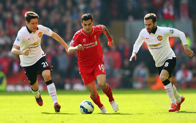 Liverpool player ratings vs Manchester United – Philippe Coutinho and Daniel Sturridge impress on dissapointing day