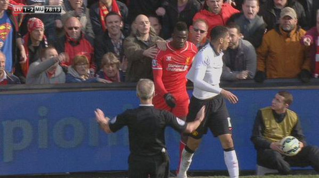 Liverpool's Mario Balotelli thanks fan who held him back from Man United's Chris Smalling
