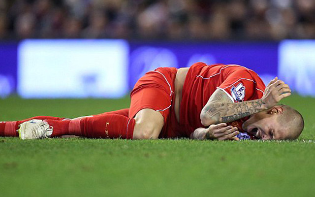 (Image) Martin Skrtel gives injury update on Instagram after worrying fall vs Blackburn