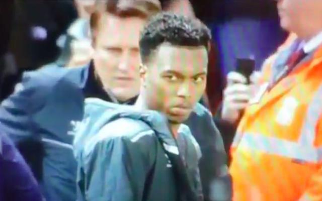 (Video) Who was Daniel Sturridge giving the death stare last night..?!