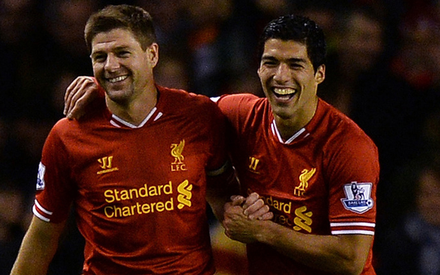 Gerrard reacts to Carragher not selecting Suarez in his Premier League XI of the decade