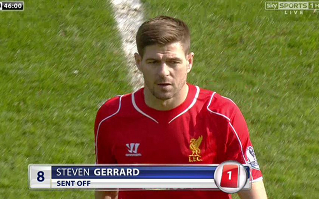 Video: Steven Gerrard red card – was this disastrous decision the right one by the ref?