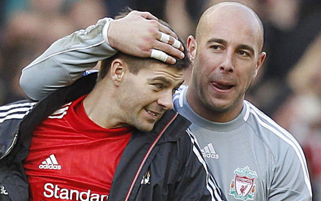 Pepe Reina says Steven Gerrard should not be blamed for Man United red card