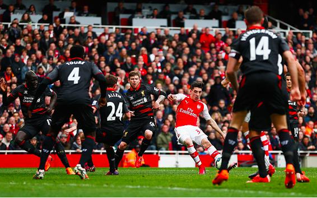 (Video) Hector Bellerin the surprise scorer as Liverpool fall behind