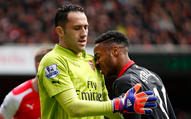 (Video) Chance – Raheem Sterling almost goes from villain to hero during Arsenal v Liverpool