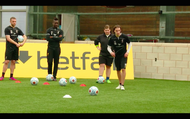 (Video) Mario Balotelli & Liverpool stars lose free-kick battle with YouTube sensation