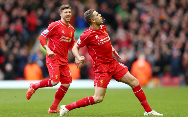 (Image) Jordan Henderson voted player of the month for March