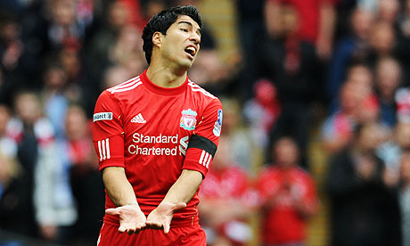Luis Suarez amazingly omits all his Liverpool goals from his career top 3