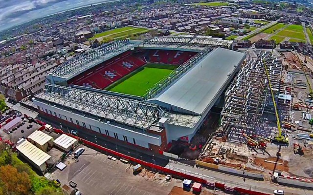 Images Drone Captures Bird S Eye View Of Anfield S