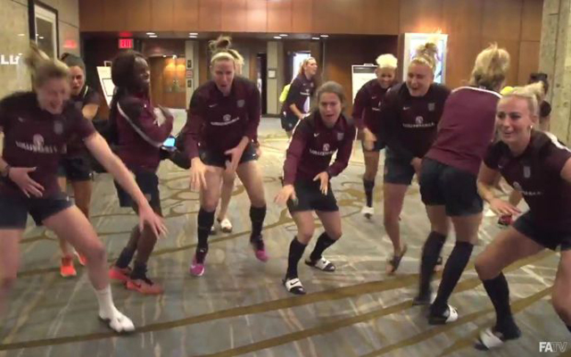 (Video) England's women copy Liverpool's brilliant Kolo Toure airport chant