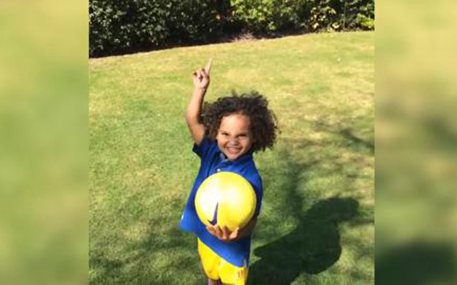 (Video) Glen Johnson's son shows off his skills while pretending to be Daniel Sturridge