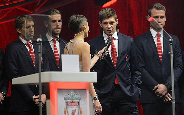 Steven Gerrard reveals his successor as Liverpool's main man