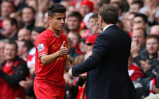 Brendan Rodgers reads out letters from players' mums before matches, says Coutinho