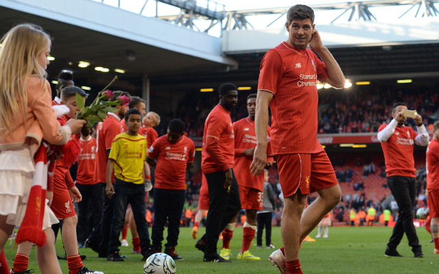 Steven Gerrard thanks supporters after Anfield curtain call