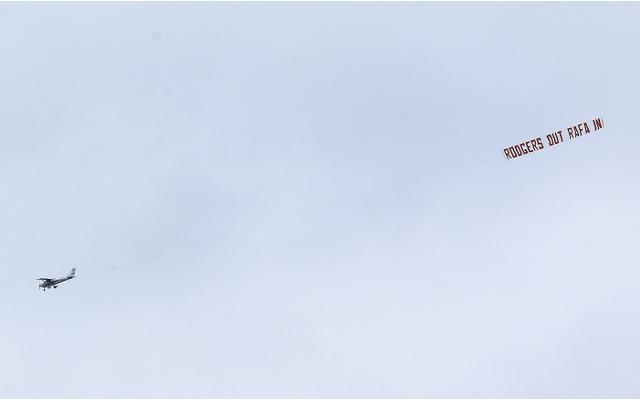 Brendan Rodgers jokes that Rafa Benitez's agent behind plane stunt