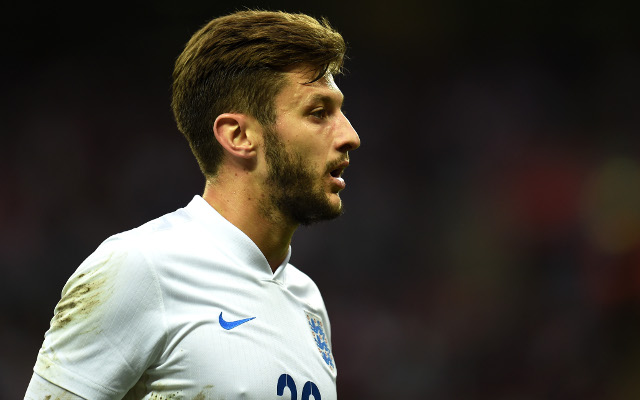 Picture: Liverpool midfielder Adam Lallana in England training amid injury concerns